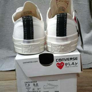 Sepatu sneakers converse AS play low of white BNIB bandung