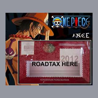 Road Tax Sticker One Piece - ACE