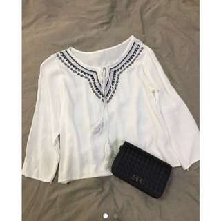 Embroidery casual blouse