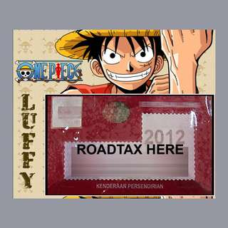 Road Tax Sticker One Piece - LUFFY