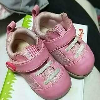 貝親 二手  二階段學步鞋 粉色