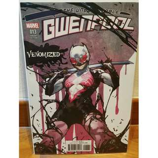 GWENPOOL #13 YASMINE PUTRI VENOMIZED VENOM Variant NM, Marvel