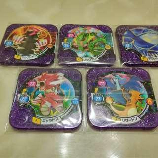 pokemon tretta 寶可夢 神奇寶貝 機台 閃 P卡 紫卡 噴火龍X 蓋歐卡 固拉多 色違 異色 暴鯉龍 烈空座 MEGA