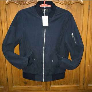 H&M Bomber Jacket (XS Navy Blue) w/ tags