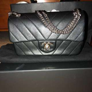 Brand New Chanel Mini Chevron Crossbody Flap
