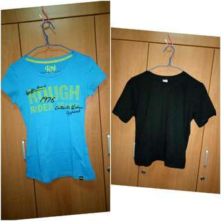 Clearance Sale! blue shirt and black crop top
