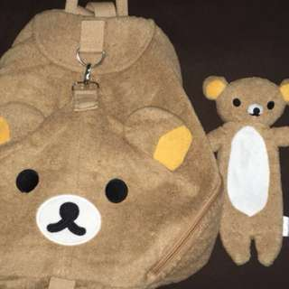 Rilakkuma Bag And Pencil Case
