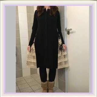 🎀全新正貨 Franche Lippee 針織長外套 連身裙 兩旁有FL喱士
