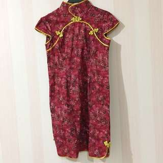 Red Colour Cheongsam Chinese New Year
