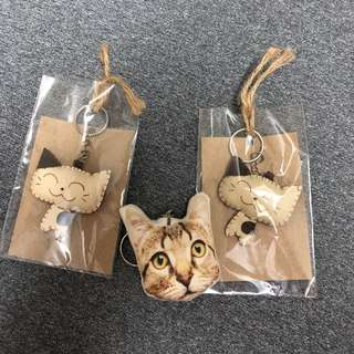Free cute kitty key chain