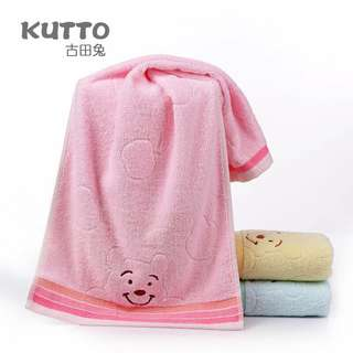 Smiling cotton superfine fiber towel