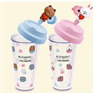 Line x LC 咖啡杯(粉/藍)
