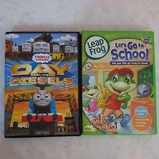 DVD children movie & learning. $5 each. 8 for all.