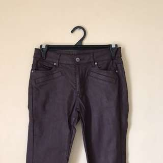 Witchery Leather Jeans Size 9