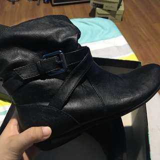 Payless Boots - leather black
