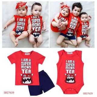 Kids and baby set wear romper