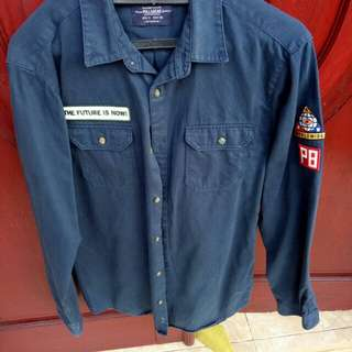 Kemeja / Shirt Pull&Bear with Patch