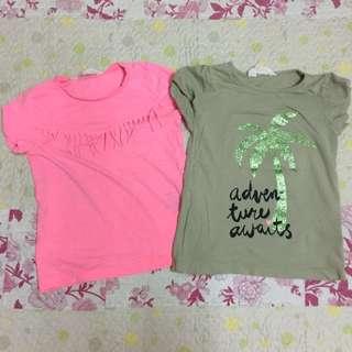 2pcs H&M tshirt 4-6year