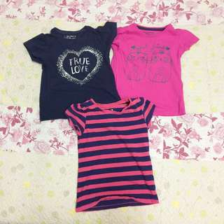 3pcs PRIMARK UK tshirt 5-6year