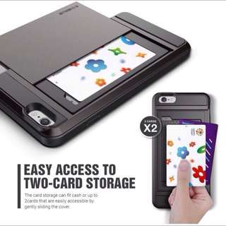 Phone Case with Two cards storage For iPhone 7 Plus