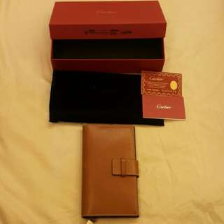 brand new Cartier goatskin notebook
