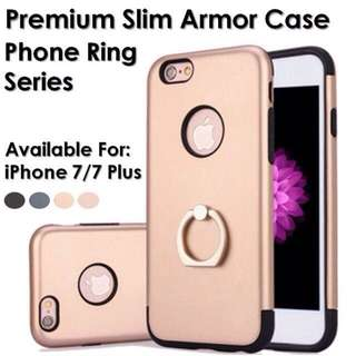 Premium Slim Armor Case phone ring series For iPhone 7