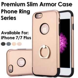 Premium Slim Armor Case phone ring series For iPhone 7