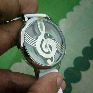 For Music Lover Women's Watch (white)