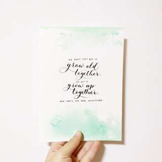 Watercolour Background Calligraphy