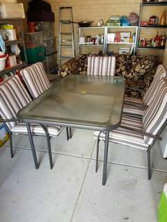 6 seater outdoor table with chairs