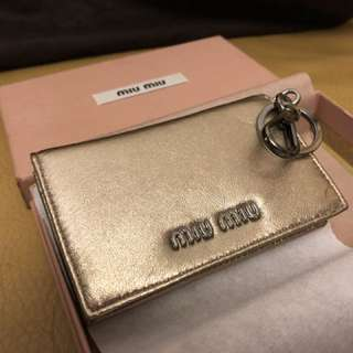 Miu Miu card holder keychain