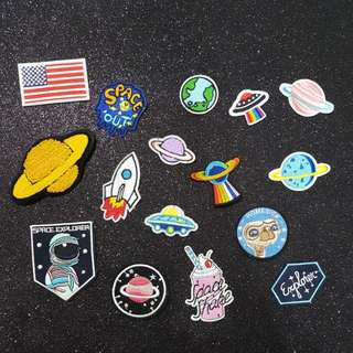 《SPACE COLLECTION》Iron on patches