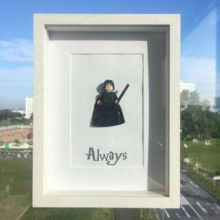 Harry Potter - Snape Framed Lego Figurine