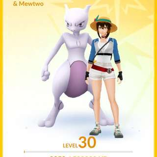 Lvl 30 Mewtwo acc with 100iv Groudon & Absol