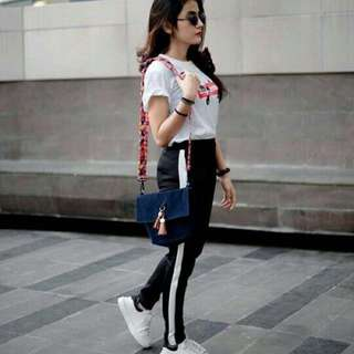 Legging stripe white