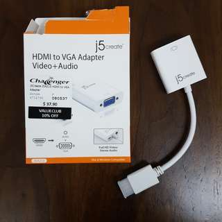 HDMI to VGA Adapter + Audio