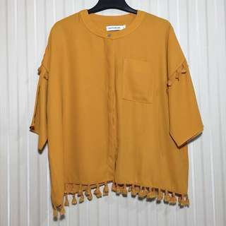 Top Cotton Ink Mustard - PNS012