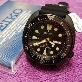 Brand New Seiko Prospex Black Turtle SRPC49K1