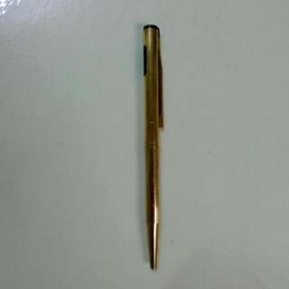 USA Sheaffer Gold Electroplated Ballpoint Pen Vintage 1