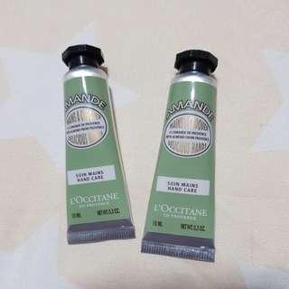 L'occitane Hand Cream with Almond Travel Size