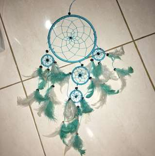 Dream catcher turquoise and white
