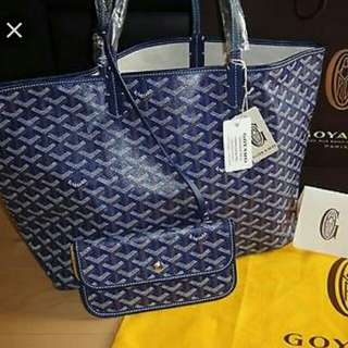 Goyard Navy blue pm size