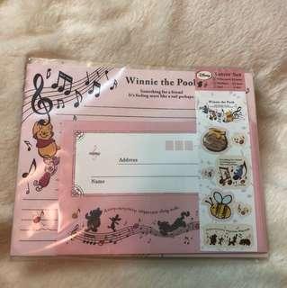 Winnie the Pooh letter set 信紙