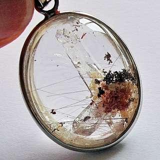 極品雙重晶中晶共生彩幽靈吊墜 - 超美有證書