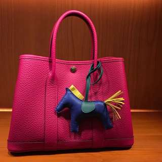 全新Hermes garden party30 rose purple