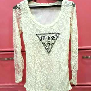 Guess Lace White