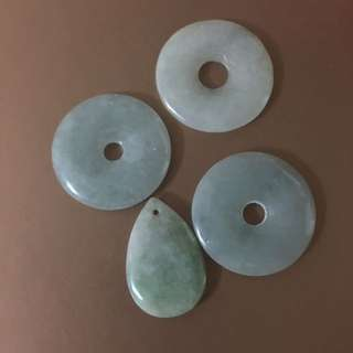 Jade pendant (set of 4pcs)