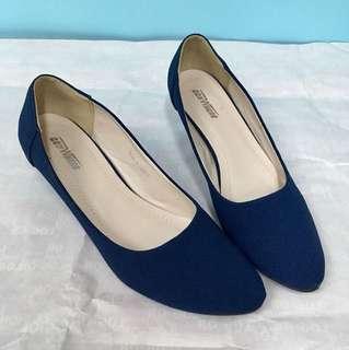女裝2吋藍色高跟鞋