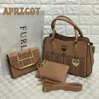 Furla 3 in 1 Bags Apricot Color
