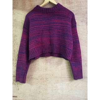 日本帶回🇯🇵混色短版羊毛毛衣